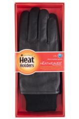 Mens 1 Pair Heat Holders Leather Gloves 1.2 TOG Packaging Image