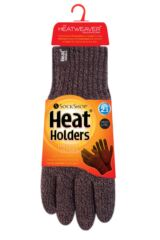 Mens 1 Pack Heat Holders Contrast Thermal Gloves Product Shot