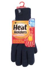 Mens 1 Pair Heat Holders 2.3 Tog Fairisle Gloves In Navy Product Shot