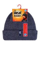 Mens 1 Pack Heat Holders Turn Over Cuff Thermal Hat Packaging Image