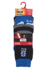 Boys 1 Pair Heat Holders Star Wars C-3PO and R2-D2 Slipper Socks with Grip Packaging Image