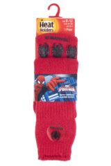 Boys 1 Pair Heat Holders Spider-Man Slipper Socks with Grip Packaging Image