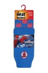 Kids 1 Pair SOCKSHOP Heat Holders Marvel's Ultimate Spider-Man Slipper Socks Packaging Image