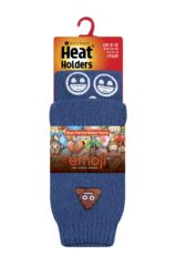 Kids 1 Pair SockShop Heat Holders Emoji Poo Face Slipper Socks Packaging Image