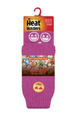 Kids 1 Pair SockShop Heat Holders Emoji Heart Face Slipper Socks Packaging Image