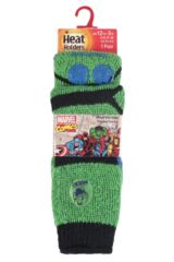 Boys 1 Pair Heat Holders The Incredible Hulk Slipper Socks with Grip Product Shot