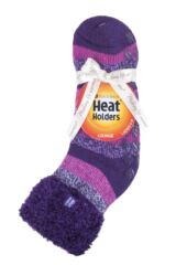 Ladies 1 Pair Heat Holders Lilly Stripe Lounge Socks Packaging Image