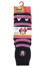 Ladies 1 Pair Heat Holders Disney Minnie Mouse Slipper Socks with Grip Packaging Image
