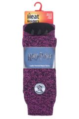 Ladies 1 Pair Heat Holders Harry Potter Thermal Socks with Grips Packaging Image