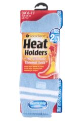 Mens 1 Pair Heat Holders For Football Fans Socks In Light Blue Product Shot