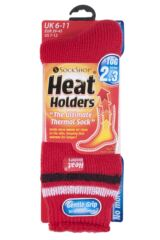 Mens 1 Pair Heat Holders For Football Fans Socks In Red, White and Black Product Shot