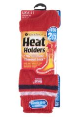 Mens 1 Pair Heat Holders For Football Fans Socks In Red, White and Navy Product Shot