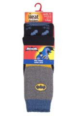 Mens 1 Pair Heat Holders DC Comics Batman Slipper Socks with Grip Packaging Image