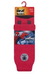 Mens 1 Pair SOCKSHOP Heat Holders Marvel's Spider-Man Slipper Socks Packaging Image
