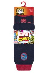 Mens 1 Pair SockShop Heat Holders Marvel's Captain America Slipper Socks Packaging Image