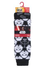 Mens 1 Pair Heat Holder Star Wars Storm Trooper and Darth Vader Slipper Socks with Grip Product Shot