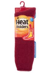 Ladies 1 Pair SockShop Heat Holders Wool Rich Long Thermal Socks Product Shot