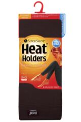 Ladies 1 Pair Heat Holders 0.52 Tog Leggings In Brown Packaging Image