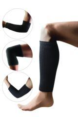 Ladies and Mens 1 Pair Heat Holders 2.3 Tog Joint Warmers In Black