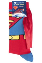 Mens 1 Pair SockShop Superman Cape Socks Packaging Image