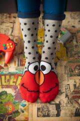 Ladies 3 Pair SOCKSHOP Sesame Street Socks Leading Image