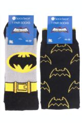 Mens 2 Pair SockShop DC Comics Mix Batman Socks Packaging Image