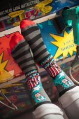 Mens 3 Pair SOCKSHOP Marvel Captain America Mix Cotton Socks Leading Image