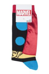 Mens 1 Pair SockShop Marvel Thor Cape Cotton Socks Packaging Image