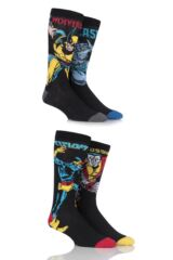 Mens 4 Pair SockShop Marvel X-Men Wolverine, Beast, Cyclops and Colossus Cotton Socks