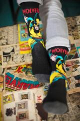 Mens 4 Pair SOCKSHOP Marvel X-Men Wolverine, Beast, Cyclops and Colossus Cotton Socks Leading Image