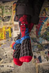 Mens 3 Pair SockShop Marvel The Amazing Spider-Man and Doctor Octopus Cotton Socks Leading Image