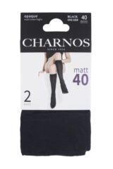 Ladies 2 Pair Charnos 40 Denier Matt Knee Highs Packaging Image