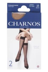 Ladies 2 Pair Charnos 15 Denier Trouserwear Knee Highs Packaging Image