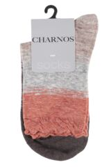 Ladies 1 Pair Charnos Slouch Stripe Cotton Socks Product Shot
