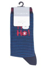 Ladies 1 Pair Charnos Cotton Christmas Ho Ho Ho Socks Packaging Image