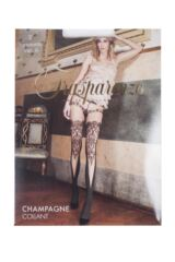 Ladies 1 Pair Trasparenze Champagne Mock Hold Up Tights Packaging Image