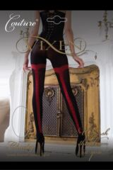Ladies 1 Pair Vixen by Couture Charley Tuxedo Seamed Opaque Tights Product Shot