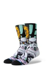 Mens 1 Pair Stance Star Wars Warped Chewbacca Cotton Blend Socks Leading Image