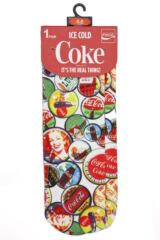 Ladies 1 Pair Coca Cola Bottle Tops Printed Socks Packaging Image
