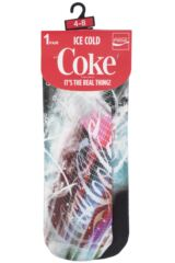 Ladies 1 Pair Coca Cola HD Printed Socks Packaging Image