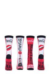 Ladies 2 Pair Coca Cola Fizz Cotton Socks