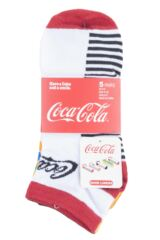 Ladies 5 Pair Coca Cola Shoe Liner Socks Packaging Image