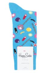 Mens and Ladies 1 Pair Happy Socks Junk Food Candy Combed Cotton Socks Packaging Image