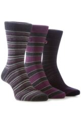 Mens 3 Pair Farah Classic Mixed Stripe Socks In 5 Colours