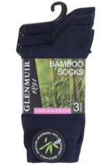 Ladies 3 Pair Glenmuir Classic Plain Bamboo Socks Packaging Image