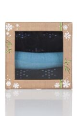 Ladies 3 Pair Glenmuir Snowflake Bamboo Socks In Bamboo Gift Box Product Shot