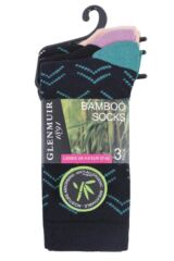 Ladies 3 Pair Glenmuir Arrows Bamboo Socks Packaging Image