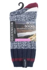 Ladies 2 Pair Glenmuir Plain Textured Boot Socks Packaging Image