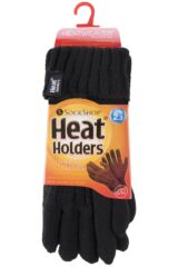 Ladies 1 Pair Heat Holders 3.2 Tog Heatweaver Yarn Gloves Packaging Image