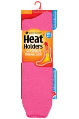 Ladies 1 Pair SOCKSHOP Long Heat Holders Thermal Socks Packaging Image